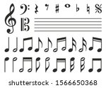 vector icons set music note | Shutterstock .eps vector #1566650368