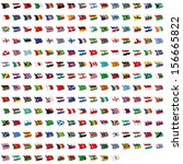 world flag collection | Shutterstock . vector #156665822
