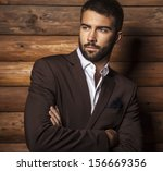 portrait of young beautiful... | Shutterstock . vector #156669356
