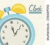 time design  over beige... | Shutterstock .eps vector #156669542