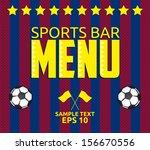 football   sports bar menu card ... | Shutterstock .eps vector #156670556