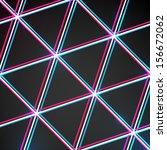 abstract black triangular... | Shutterstock .eps vector #156672062