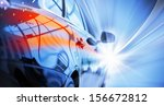 back view of automobile in... | Shutterstock . vector #156672812