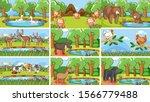 background scenes of animals in ...   Shutterstock .eps vector #1566779488