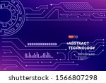 abstract technology background... | Shutterstock .eps vector #1566807298