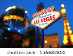 Stock photo welcome to las vegas neon sign 156682802