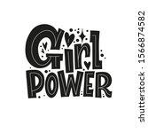 girl power. body positive ...   Shutterstock .eps vector #1566874582