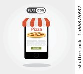 smartphone with pizza on the...