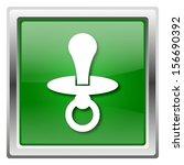 metallic icon with white design ... | Shutterstock . vector #156690392