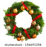 Green Christmas Wreath With...