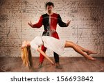 magic moment   man in medieval... | Shutterstock . vector #156693842
