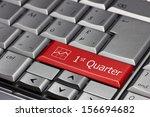 computer key   1st quarter | Shutterstock . vector #156694682