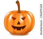 halloween pumpkin | Shutterstock .eps vector #156695165