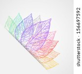 abstract colorful leaves vector | Shutterstock .eps vector #156697592