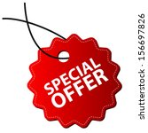 special offer tag | Shutterstock .eps vector #156697826