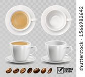 3d realistic vector cup of... | Shutterstock .eps vector #1566982642