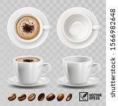 3d realistic vector cup of... | Shutterstock .eps vector #1566982648