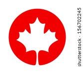 canada maple icon | Shutterstock .eps vector #156702245