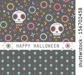 vector set of two halloween... | Shutterstock .eps vector #156702458