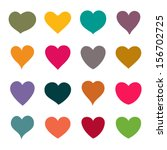 set of vector hearts | Shutterstock .eps vector #156702725