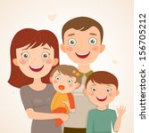 happy family  father  mother ... | Shutterstock .eps vector #156705212