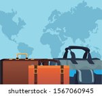 travel bags icon over blue...   Shutterstock .eps vector #1567060945