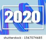 Happy New 2020 Year  3d...