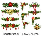 christmas decorations with fir... | Shutterstock .eps vector #1567078798