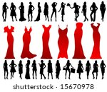 fashion models | Shutterstock .eps vector #15670978