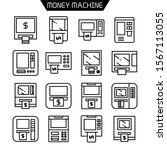 atm  money machine icons set... | Shutterstock .eps vector #1567113055