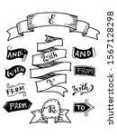 doodle ribbons set  badges ... | Shutterstock .eps vector #1567128298