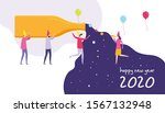 new year illustration showing...