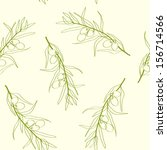 seamless pattern with olive... | Shutterstock .eps vector #156714566