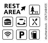 rest area sign vector...   Shutterstock .eps vector #1567148455