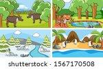 background scenes of animals in ... | Shutterstock .eps vector #1567170508