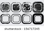 set of black grunge shapes  | Shutterstock .eps vector #156717245