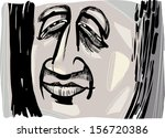 artistic drawing illustration... | Shutterstock .eps vector #156720386