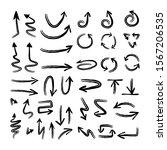 hand drawn grunge arrows. arrow ...   Shutterstock .eps vector #1567206535