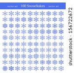 isolated snowflakes on white... | Shutterstock .eps vector #156722672