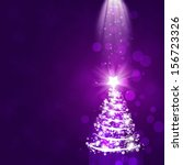Purple Abstract Christmas...