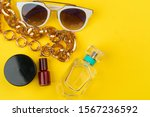 stylish woman accessories on... | Shutterstock . vector #1567236592