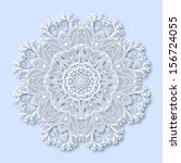 circle lace ornament  round... | Shutterstock .eps vector #156724055