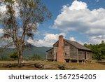 Historic Pioneer Log Cabin In...