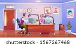 radio hosts dj in studio ...   Shutterstock .eps vector #1567267468