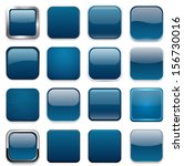 set of blank dark blue square... | Shutterstock .eps vector #156730016
