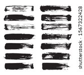 vector black paint ink brush... | Shutterstock .eps vector #1567322428