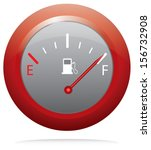 red button with fuel gauge.... | Shutterstock .eps vector #156732908