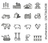 farm and agriculture line icon... | Shutterstock .eps vector #1567363438