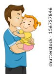 adult,baby,bonding,cartoon,cartoon people,child,clip art,clipart,cute,cutout,daughter,eps,family,family life,father
