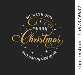 merry christmas vector text... | Shutterstock .eps vector #1567379632